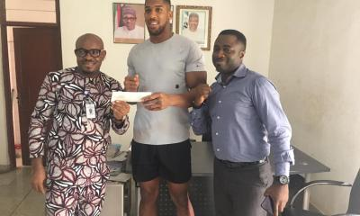 Anthony Joshua gets National ID card at NIMC office [PHOTOS]