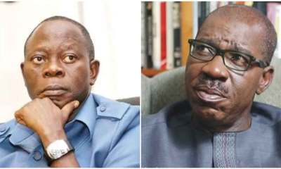 Oshiomole should notify me before visiting Edo, Obaseki insists
