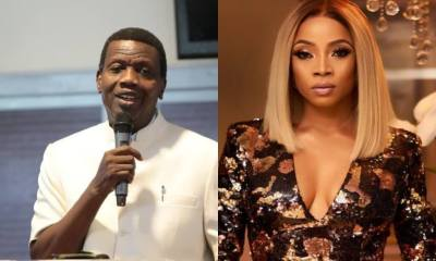 "Toke Makinwa responds to Pst Adeboye, ""Cooking is not restricted to a gender"""