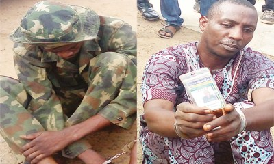 Police arrest fake soldier, corporal for impersonation & rape