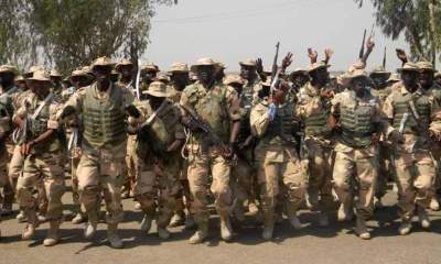 Nigerian soldiers sing melodiously in heartwarming video