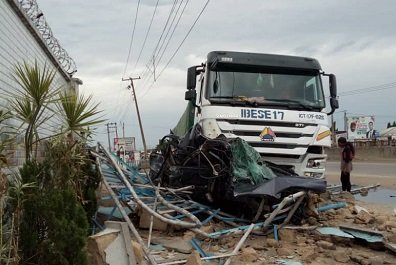 Cement truck rams into packed vehicles in Delta