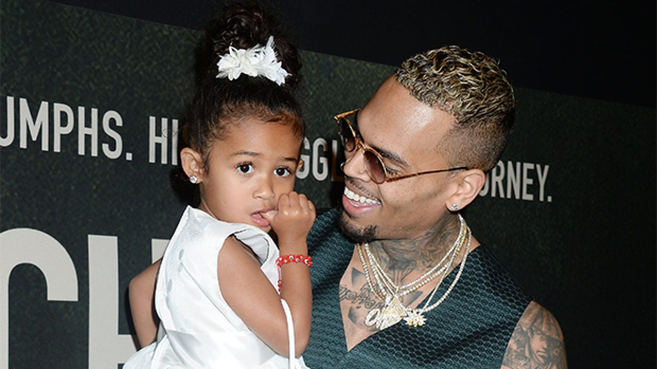 Chris Brown's daughter sings for him in adorable video on ...