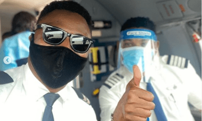 Omotola Jalade's husband flies out Chinese nationals, actress reacts