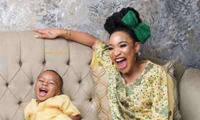 Tonto Dikeh again wishes herself a Happy Father's day topnaija.ng