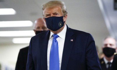 President Trump wears mask in public first time [PHOTOS] topnaija.ng