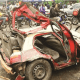 Four women die as truck rams into car and motorcycles