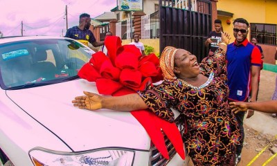 DJ Kaywise surprises mother with a car on her birthday [PHOTOS] topnaija.ng
