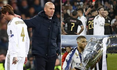 How Ramos was suspended for Friday's last-16 second leg against Manchester City-TopNaija.ng