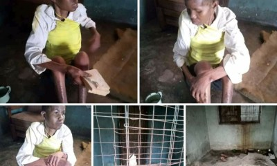 Lady accused of witchcraft and allegedly caged for three years by her husband and his people rescued in Delta (photos)-TopNaija.ng