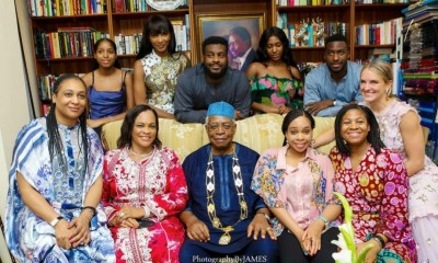 Agbani Darego with her in-laws, The Danjumas