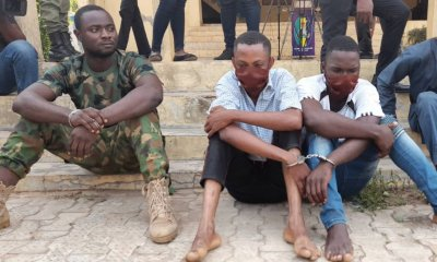 Ondo State: Serving soldier, Police constable nabbed for alleged armed robbery -TopNaija.ng