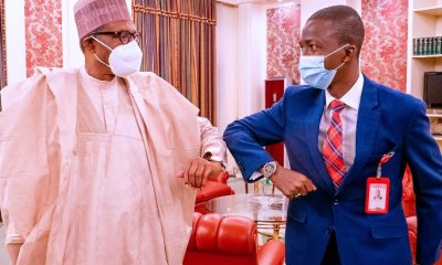 Buhari meets new EFCC chairman Bawa in Aso Villa [PHOTOS] Top Naija