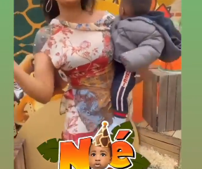 Davido's fourth baby mama, Larissa marks son's first birthday [VIDEO]