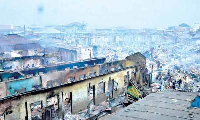 Tears as fire razes property worth millions of naira in Oyo market-TopNaija.ng