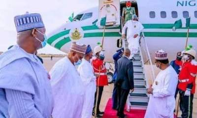 BREAKING: President Buhari arrives in Abuja after London medical trip