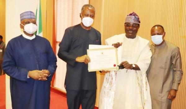 Nigeria's envoy to Togo, Debo Adesina receives letter of credence [PHOTOS]