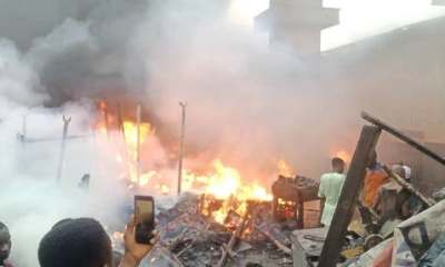 Tears as fire razes Ibadan auto spare parts market -TopNaija.ng