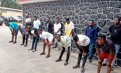 Police arrest 14 suspected internet fraudsters in Lagos [PHOTOS]-TopNaija.ng