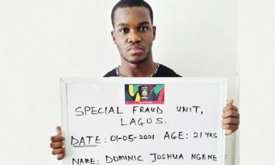 21-year-old man arrested for defrauding 500 investors of N2bn - Dominic