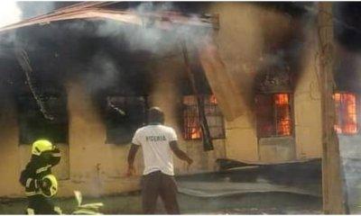 Tension as fire razes store of Yola's main hospital-TopNaija.ng
