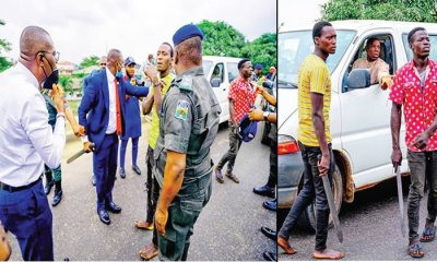 How Gov Sanwo-Olu's convoy caught Lagos traffic robbers in operation