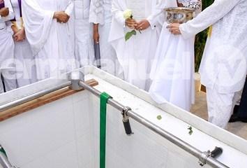 Tears flow as TB Joshua is buried in Lagos [PHOTOS/VIDEO]