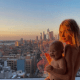 Model Elsa Hosk poses completely nude with 7-month-old daughter