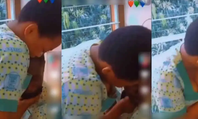 Female secondary school student forces male classmate to kiss her on school premises [VIDEO]