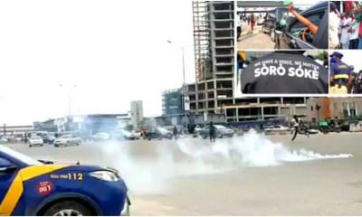 End Sars Memorial tear gar