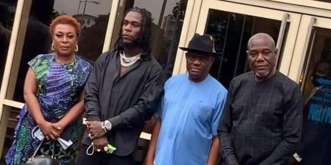 Gov Wike gifts Burna Boy, other artistes N10m each at a mask-less party in Port Harcourt