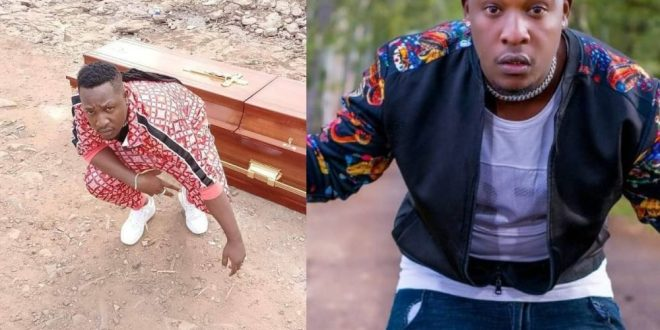 Kenyan Rapper, Japesa Buys His Own Coffin In Anticipation Of 'Death'