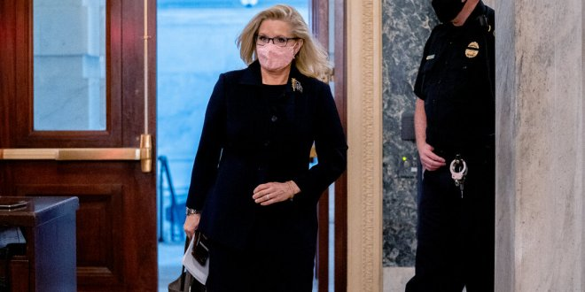 House Republicans oust a defiant Liz Cheney for her repudiation of Trump's election lies.