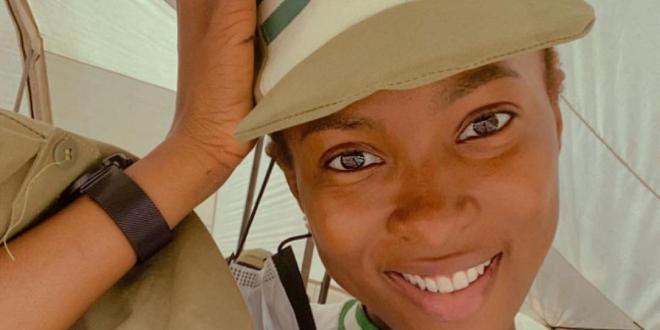 Actress Jemima Osunde goes to NYSC camp