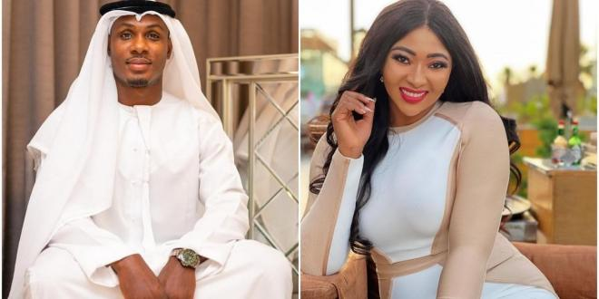 Actress Lilian Esoro sparks romance rumours with footballer Odion Ighalo