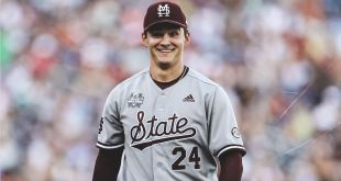Bednar sets CWS record as MS State upends No. 2 Texas