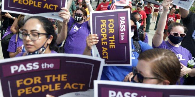Democrats Unite Behind Voting Rights Bill as It Faces a Senate Roadblock