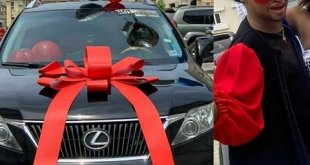 Denrele Edun gets surprise Lexus SUV gift on 40th birthday
