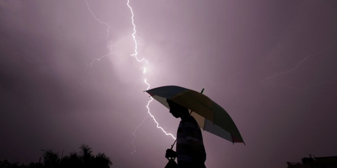 Lightning strikes kill 27 during monsoon storm in eastern India