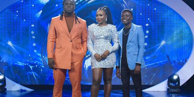 Top 3 finalists emerge as Comfort exits Nigerian Idol