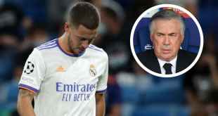 'Hazard is fit to play, I just prefer other players' - Ancelotti explains Real Madrid winger's absence
