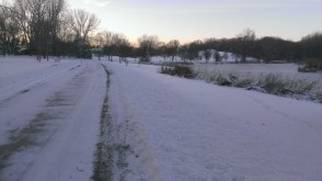 Ice action here and there on the bike path.
