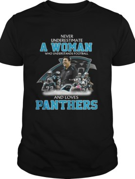 Never Underestimate a Woman Who Understands Football And Loves Panthers Tshirt