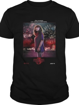 Joyce Byers One Summer Can Change Everything Stranger Things shirt