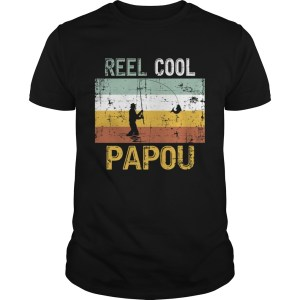 Reel Cool Papou Father Day Shirt Fishing Vintage 4th Of July TShirt Unisex