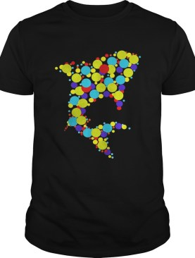 Shark dot day multi color shirt