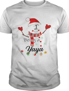 Christmas I Love Being A Yaya Snowman TShirt