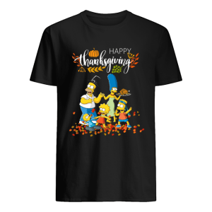 The Simpsons characters happy thanksgiving shirt