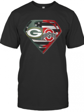 Green Bay Packers And Ohio State Superman T-Shirt