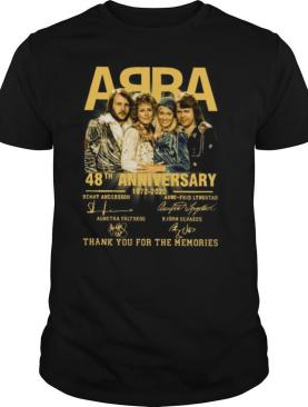 ABBA 48th Anniversary 1972 2020 Thank You For The Memories shirt